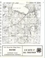 Height of Land T139N-R39W, Becker County 1975